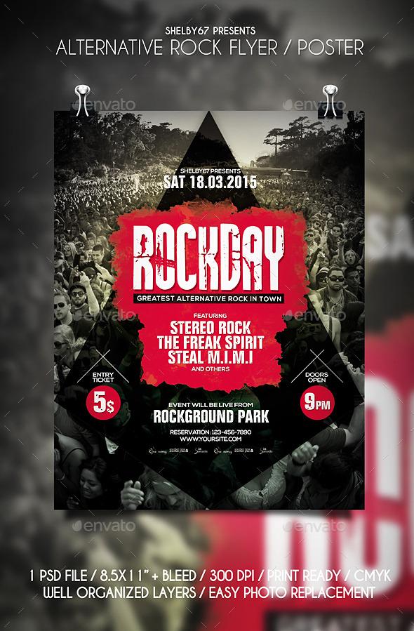 Alternative Rock Flyer / Poster - Events Flyers