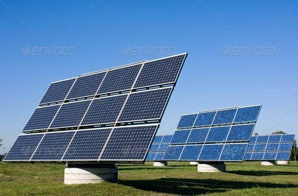 Solar energy plants - Stock Photo - Images