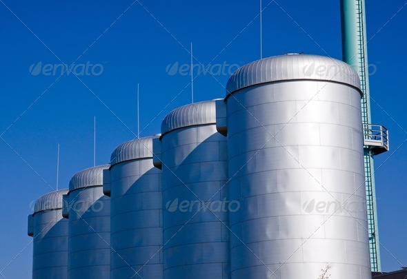Industrial tanks - Stock Photo - Images