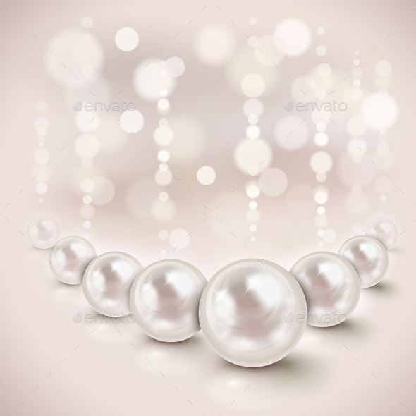 White Pearls Background - Backgrounds Decorative