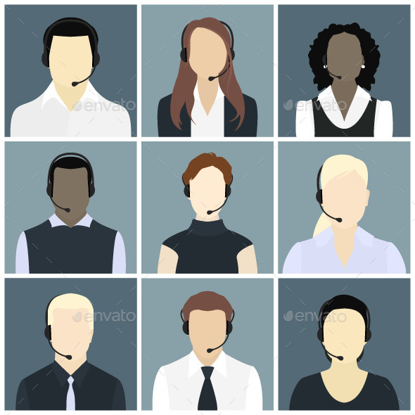 Call Center Avatars - People Characters