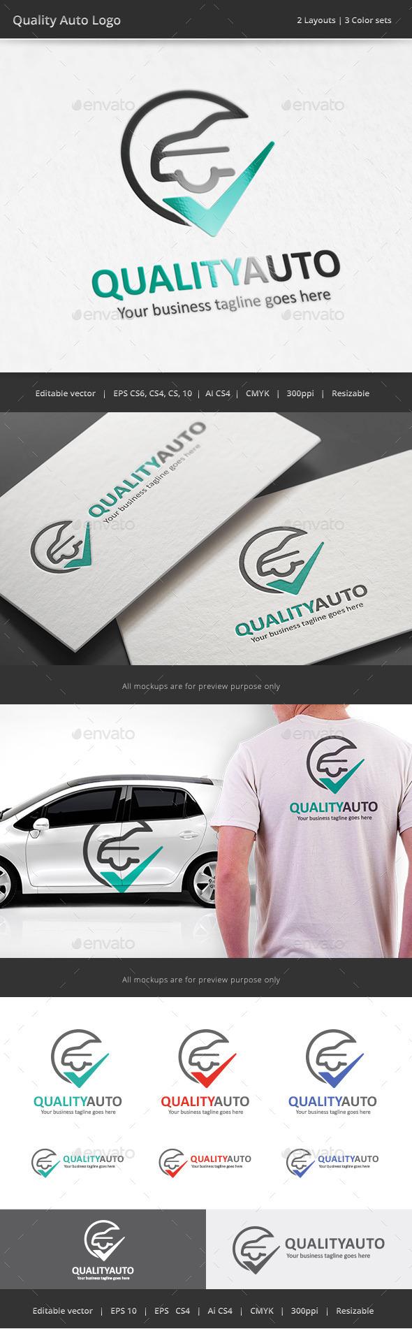Quality Auto Logo - Objects Logo Templates