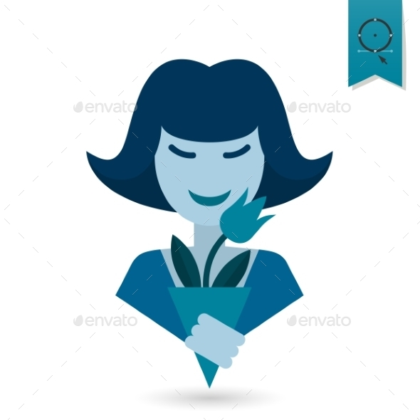Womans Day Icon - Seasons/Holidays Conceptual