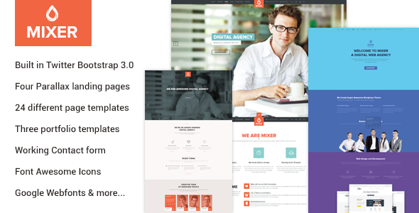 Mixer – Multipurpose HTML Template