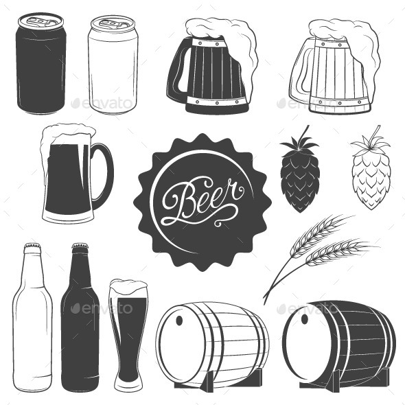 Beer Icons - Food Objects