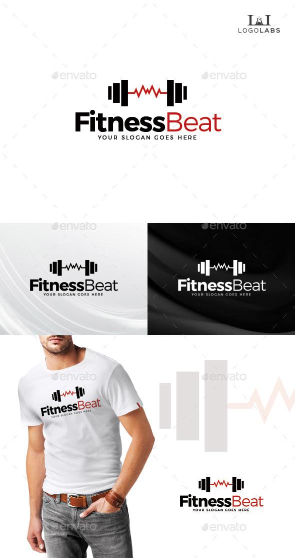 Fitness Beat Logo - Objects Logo Templates