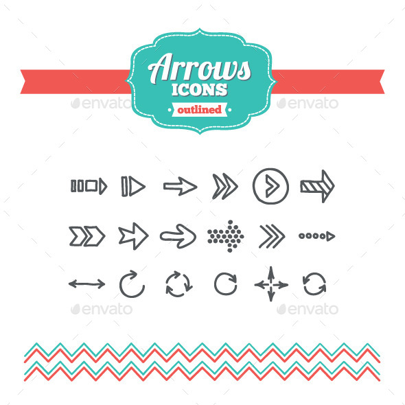 Hand Drawn Arrows Icons - Objects Icons