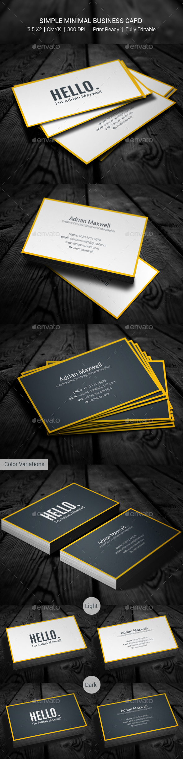 Simple Minimal Business Card - Creative Business Cards