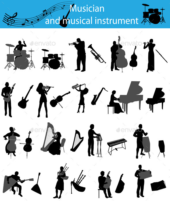 Musicians and Musical Instruments - People Characters