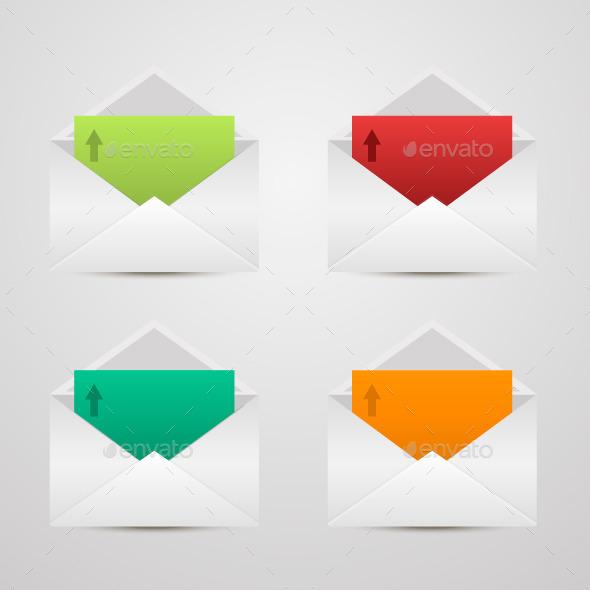 Paper Envelopes - Web Elements Vectors