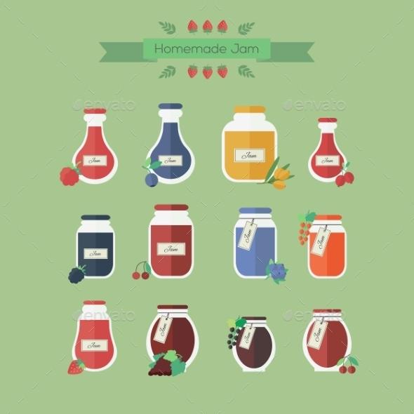 Jam Jars  - Food Objects