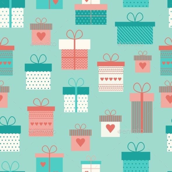 Gift Boxes Pattern  - Backgrounds Decorative