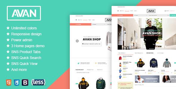 SNS Avan - Responsive Magento Theme - Fashion Magento