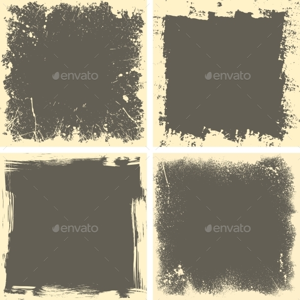 Four Grunge Frames - Backgrounds Decorative