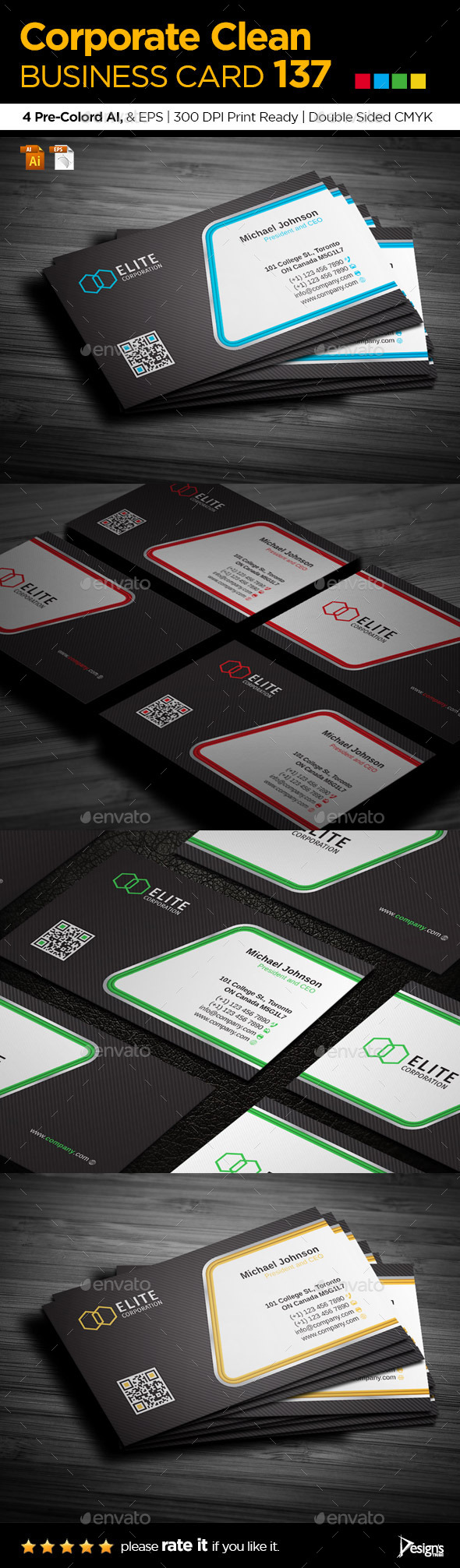 Business Card 137 - Business Cards Print Templates