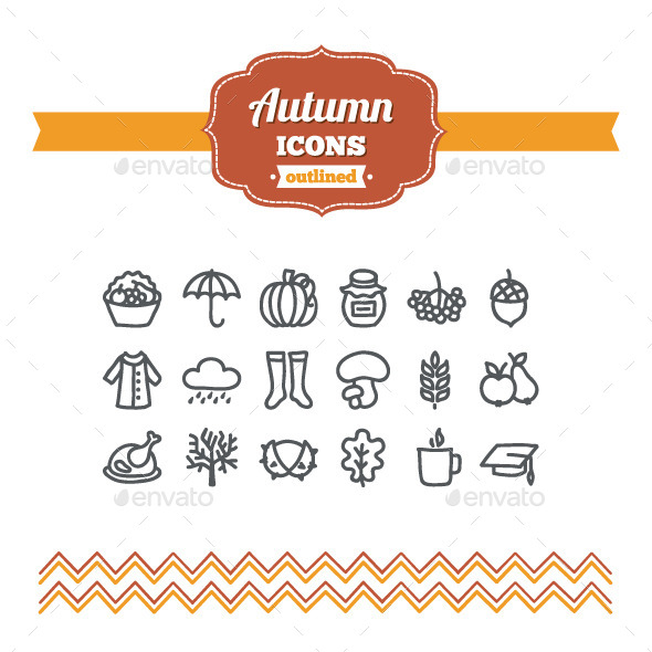 Hand Drawn Autumn Icons - Seasonal Icons
