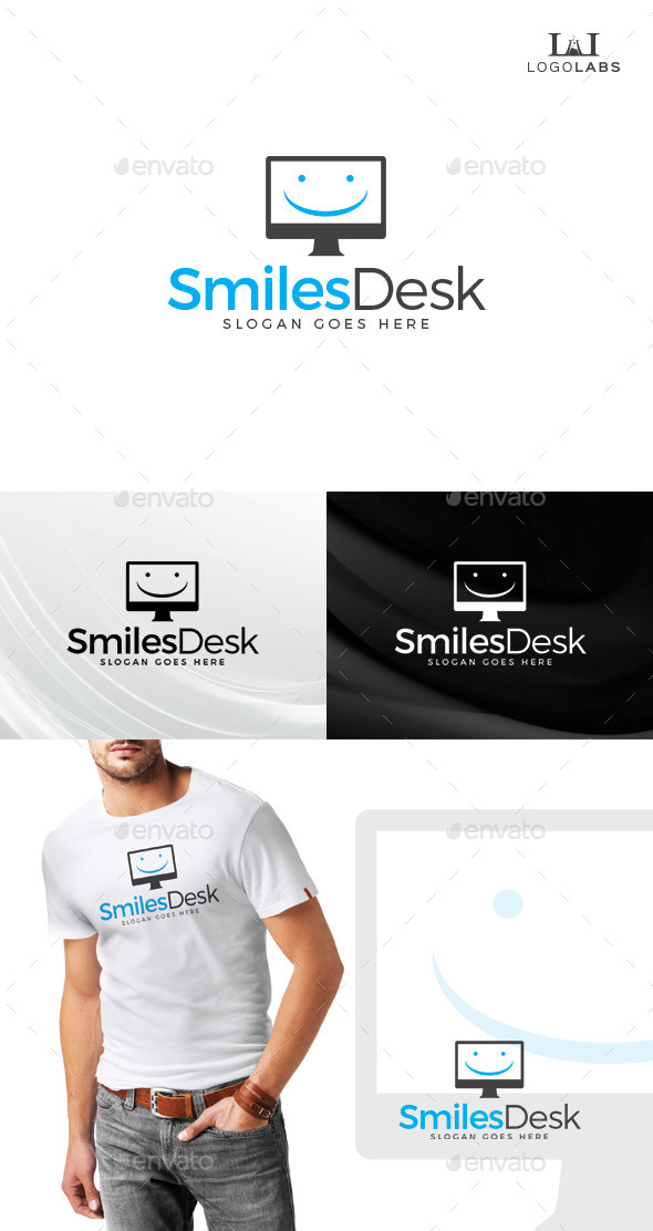 Smiles Desk Logo - Objects Logo Templates