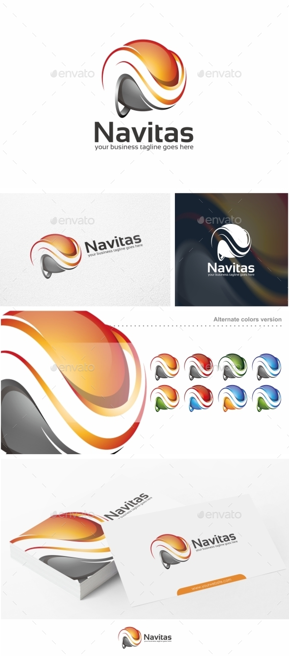 Navitas / Abstract Letter N - Logo Template - Letters Logo Templates