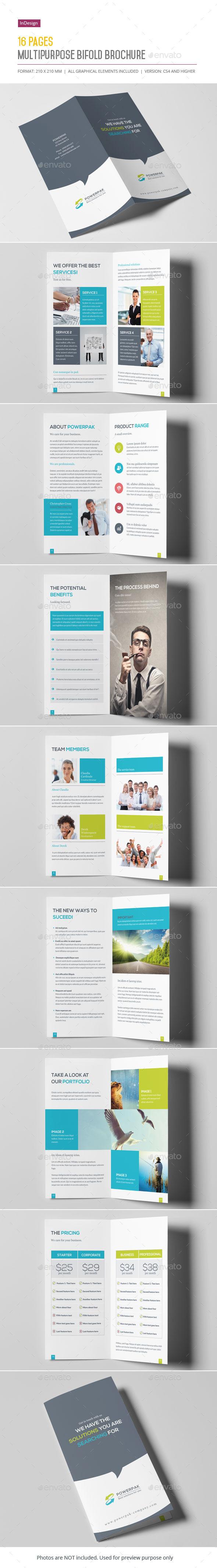 Multipurpose Bifold Brochure - Informational Brochures