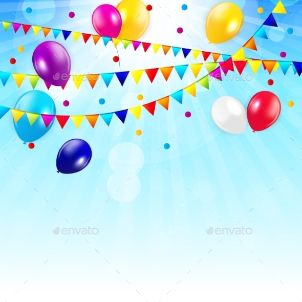 Colored Balloons Background - Web Technology
