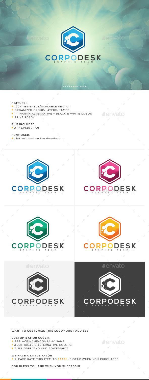 Corpo Desk Logo Template - Letters Logo Templates