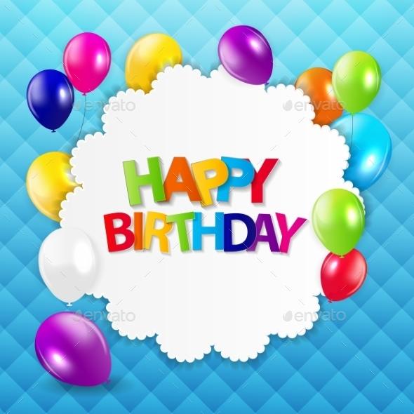 Colored Balloons Background - Birthdays Seasons/Holidays