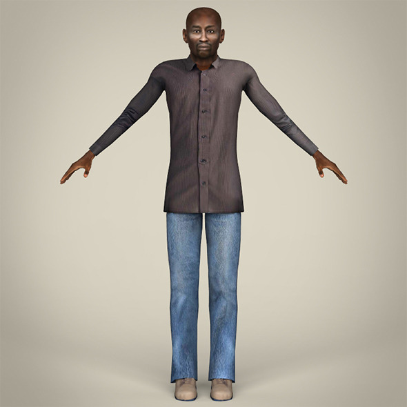 African Man - 3DOcean Item for Sale