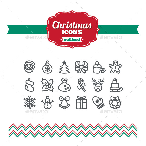 Hand Drawn Christmas Icons - Seasonal Icons
