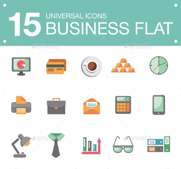 Flat Business Icons - Business Icons