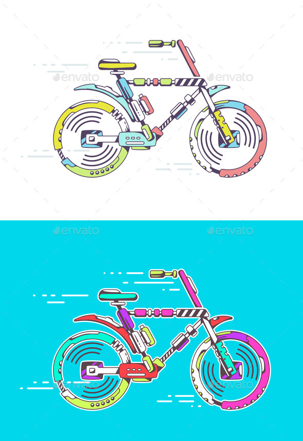 Mountain Bicycle - Sports/Activity Conceptual