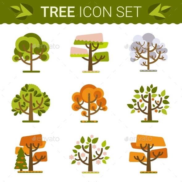 Set of Trees  - Nature Conceptual