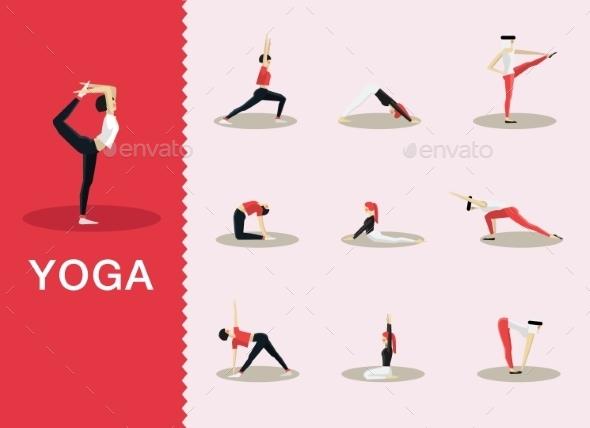 Yoga Poses - Sports/Activity Conceptual