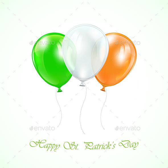 Three Patricks Day Balloons - Decorative Symbols Decorative