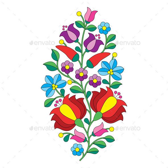 Hungarian Folk Pattern - Decorative Symbols Decorative