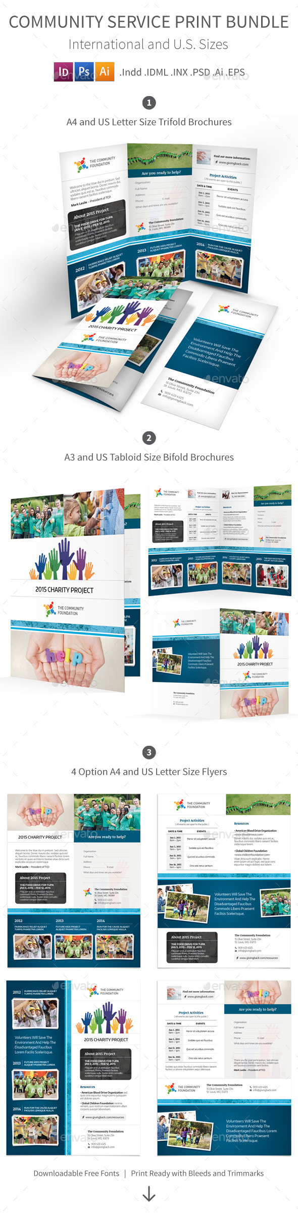 Community Service Print Bundle - Informational Brochures