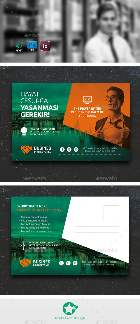 Corporate Postcard Templates - Cards & Invites Print Templates