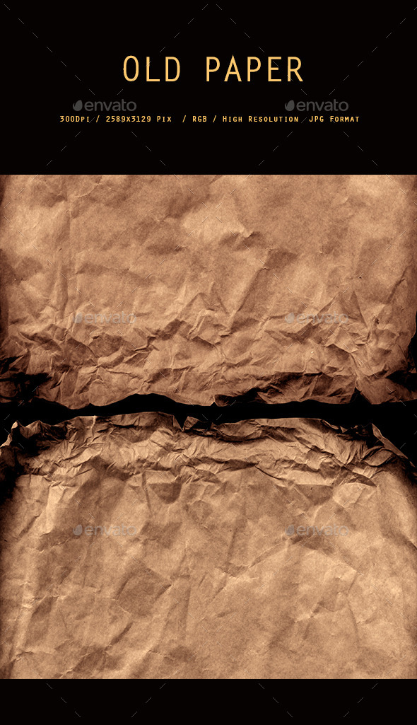 Crushed Brown Paper 0117 - Paper Textures