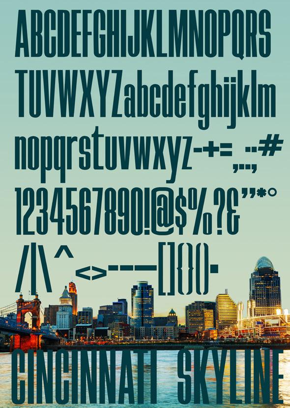 Skyline Typeface - Condensed Sans-Serif