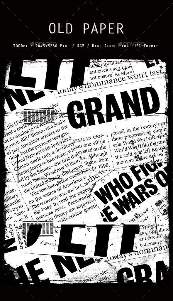 Old Newspaper collage 0121 - Abstract Textures