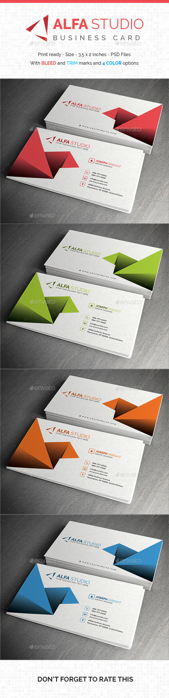 Alfa Studio - Business Card - Creative Business Cards