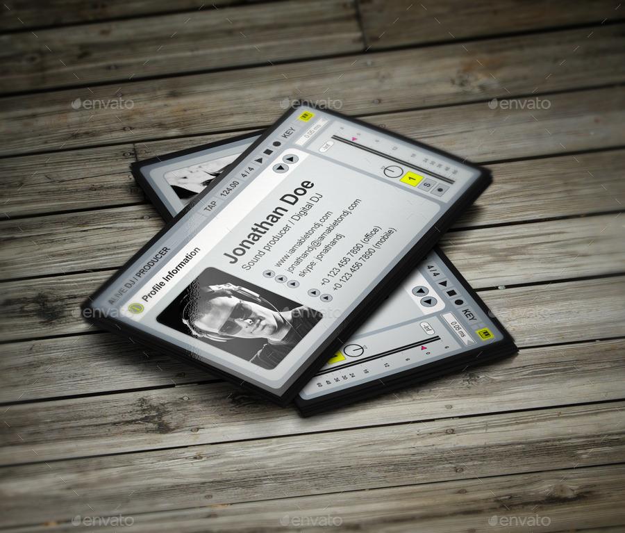 aLive Producer / DJ Business Card