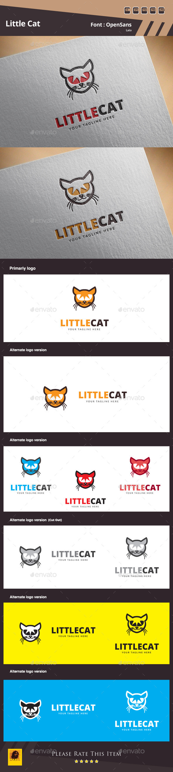 Little Cat Logo Template - Animals Logo Templates