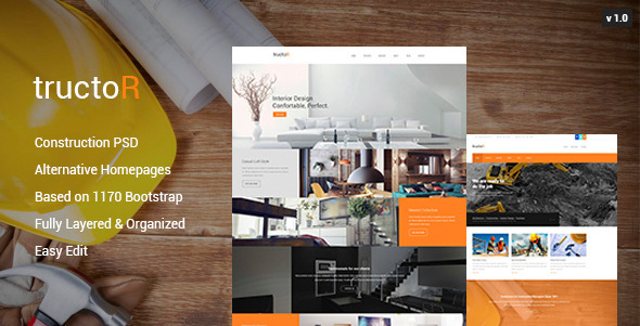 Tructor – Construction PSD Template