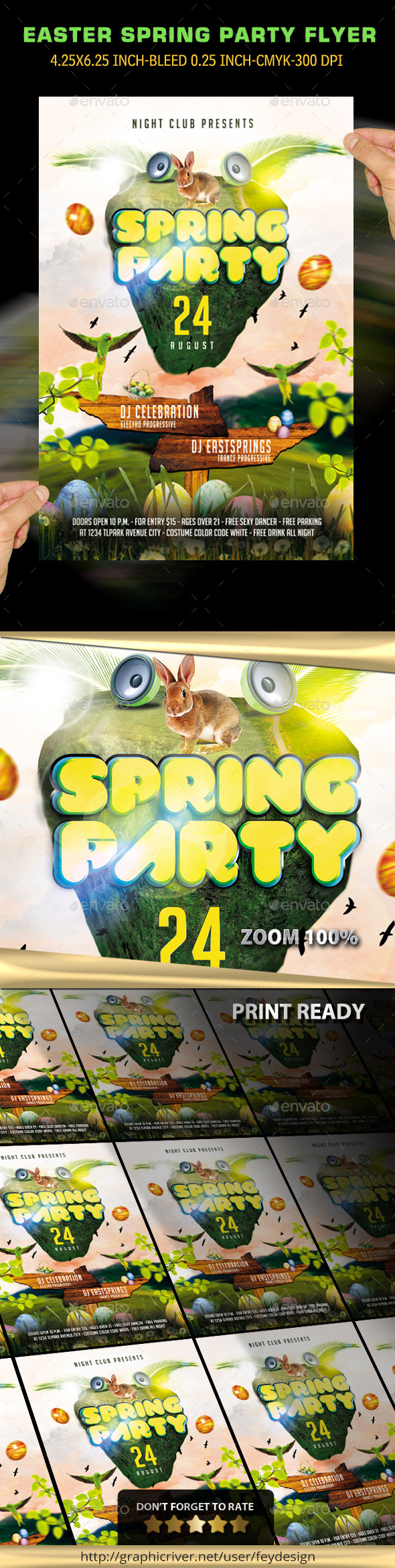 Easter Spring Party Flyer - Events Flyers