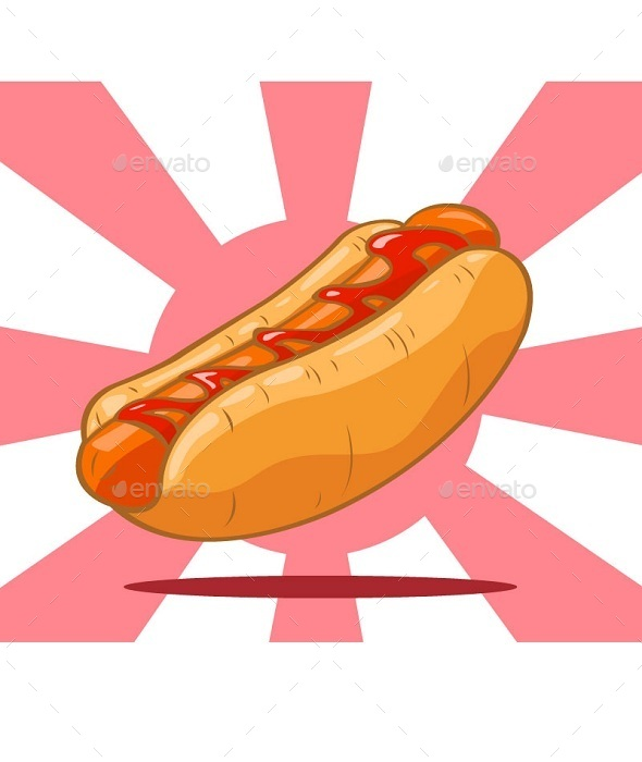 Hot Dog Classic American Fast Food - Food Objects