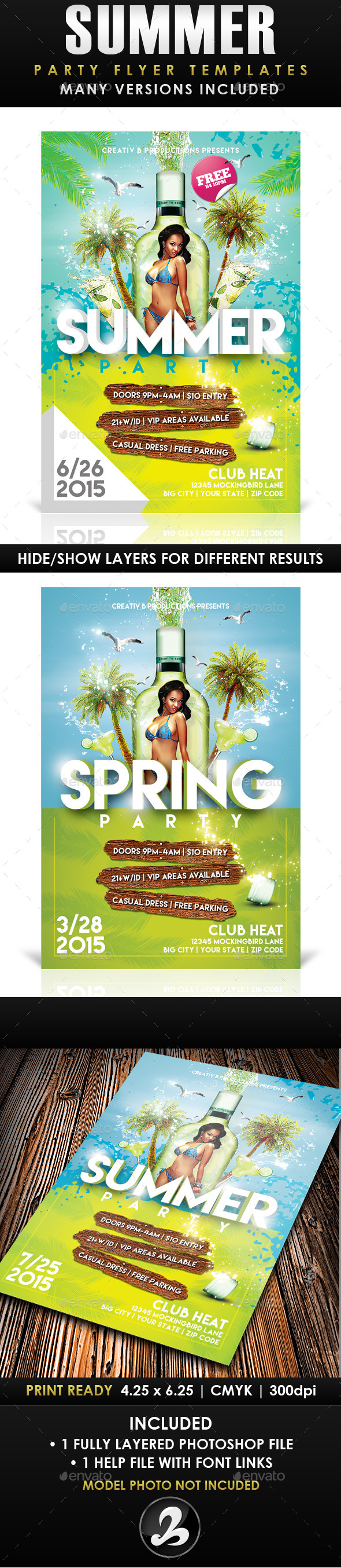 Summer Party Flyer Template 3 - Events Flyers