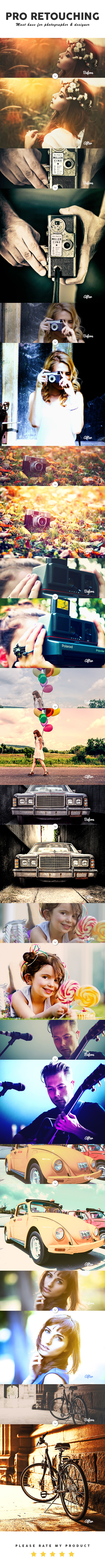 Pro Retouching Photoshop Action  - Photo Effects Actions