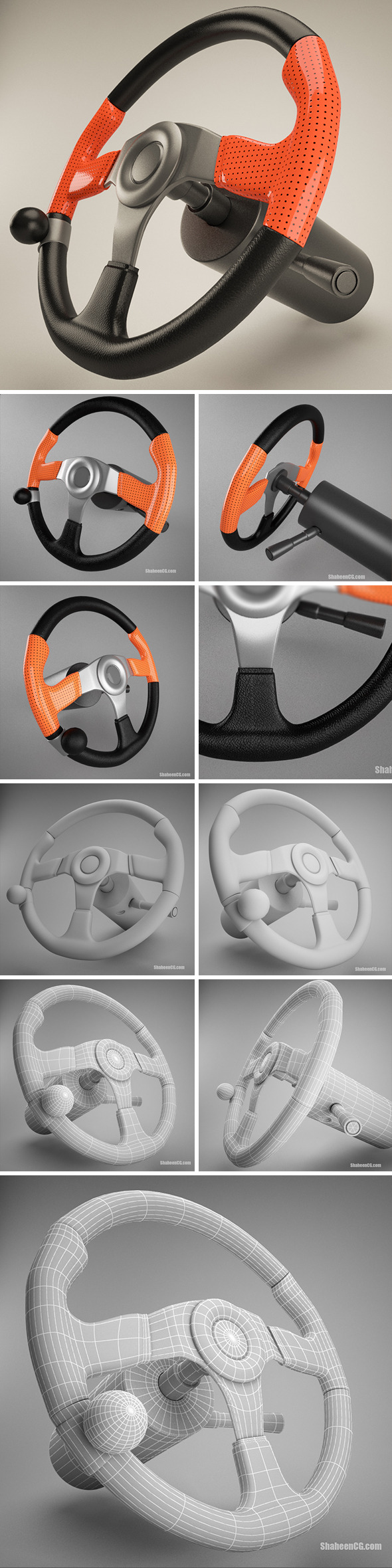 Steering Wheel - 3DOcean Item for Sale