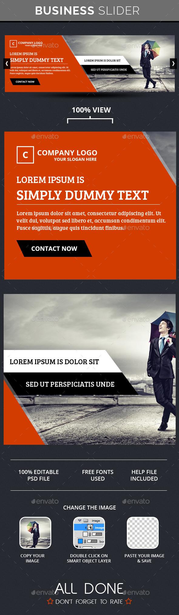 Business Slide V6 - Sliders & Features Web Elements