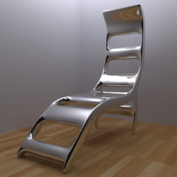 Modern chrome chair - 3DOcean Item for Sale